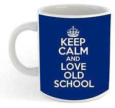 Keep Calm And Love Old School Tasse - Bleu