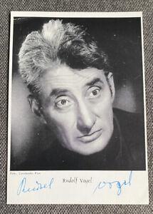 Rudolf Bird Autograph Card 10,5 X 14,5 CM Autographed Signed