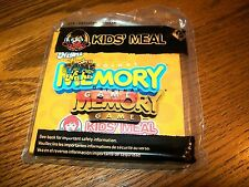 Wendy's Hasbro Game Night Memory Game for Boys & Girls Kids Meal Toy 2013 3+ NIP