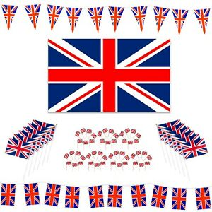 Union Jack Olympics: Flags / Waving Flags / Bunting / Cocktail Sticks (Choose)