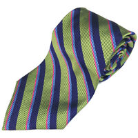 BROOKS BROTHERS New Green Blue Pink Striped Men's Silk Neck Tie NWT
