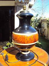 Pied de lampe en bois et incrustation divers année 70/80
