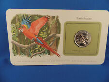 BELIZE 1 Dollar 1980 - Bird Coins of the World -  UNC Hellrote Ara  (K16)