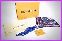 Authentic! Louis Vuitton POP monogram square scarf bandana Magenta Confidental