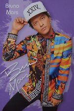 BRUNO MARS - Autogrammkarte - Autograph Autogramm Fan Sammlung Clippings