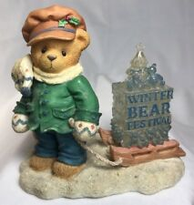 """Cherished Teddies James """"Going My Way For the Holidays"""" Pulling Sled #269786"""
