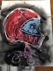 THE RACER original poster art Ody West Abstract 22x28 Painting art motocross
