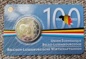 BELGIQUE !! BU. 2 euro commémo 2021 !! UEBL !! NEUF