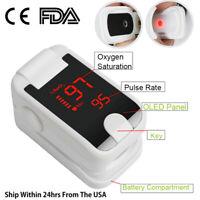 Finger Pulse Oximeter Blood Oxygen SpO2 PR Respiratory Rate Monitor FDA&CE US