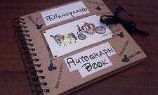 Handmade Personalised Disneyland Autograph Memory Photo Album Book Florida Paris