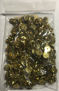 200 Pin Back Clasps butterfly clutch brass new condition frogs keeper