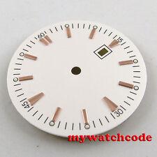 34.8mm white Watch Dial for ETA 2836 Mingzhu 2813 4813 Movement D48