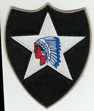 "Patch US 2nd infantry div ""Indian head"" cut edge Normandie WW2 REPRODUCTION"