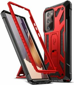 Galaxy Note 20 Ultra Case,Shockproof Protective Cover w/Kickstand Red