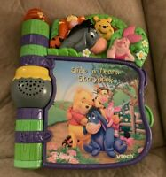 Vtech Slide 'N Learn Storybook Winnie The Poo Electronic Interactive Disney Toy