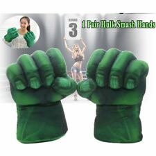 1 Pair Cosplay Hulk Gloves Smash Hands Plush Punching Boxing Fists