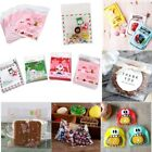 100Pcs Self Adhesive Cookie Candy Package Bag Party Birthday Cellophane Gift Bag