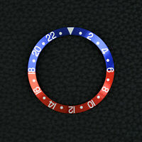 INLAY f. ROLEX GMT MASTER 16710 16700 16760 PEPSI blue red Vintage BEZEL LUNETTE