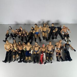 Bundle Job-lot 18x WWE Jakks Mixed Wrestling Figure 1998-2015 See Pictures