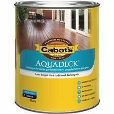 Cabot's Aquadeck DECKING OIL Exterior Water Based UV Protection MERBAU Brown 1L