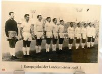Real Madrid + Europapokal der Landesmeister Winner 1958 + Fan Big Card A134 +