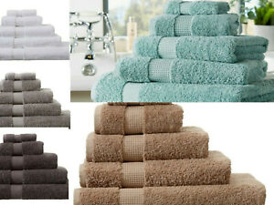 100% Egyptian Cotton 700GSM Luxe Collection Super Soft Bath/Face/Hand Towels