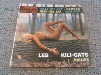 """LES KILI-CATS - CHAT VIT ROT 7"""" 45 RPM EP / RARE ORIGINAL PHILIPS FRANCE DANSE"""