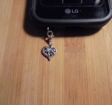 Heart Cell Phone Clip Charm~Dust Plug Cover~Free Ship