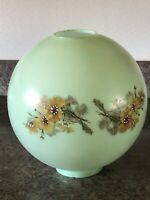 "11"" GWTW Light Green Round Ball Globe Hurricane Oil Glass Lamp Shade"