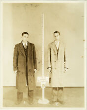 Photo Vintage Gangster Bertillon identification Policière Police Usa Vers 1940