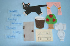 """""""Cookie's Week"""" Children story felt/ flannel board set"""