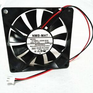 1pcs NMB 3106KL-05W-B30  24V 0.09A 8015 8CM 2-wire Cooling Fan