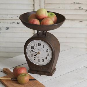 Rustic new Scale Clock in rustic tin