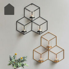 3D Geometric Candlestick Wall Candle Holder Sconce Nordic Style DIY Decor House