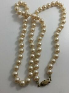 """Beautiful Strand Of Pearls Hand Knotted 25"""" Long"""