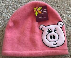 NEW Women's SO Fleece Pink Hat With Pig Emblem