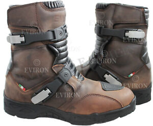 Adventure Motorcycle Motorbike Leather Low Off Road Eviron Boots.