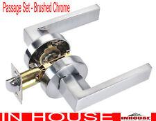 Door handles!lock!-Passage set-Satin finished(6502RD)