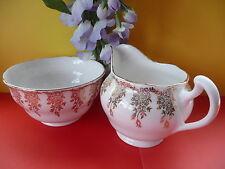 Vintage c1940 Royal Vale Bone China Filigree Tea Set  Milk Jug & Open Sugar Bowl