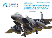 Quinta QD48090 1/48 F-15E 3D-Printed & coloured interior (for GWH kit)