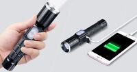 LED Taschenlampe Polizei Cree Zoom USB Wiederaufladbar Camping licht 18650 Akku