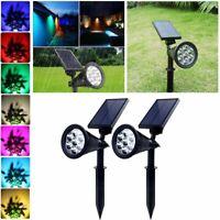Outdoor Solar Spot Lights 7 Color Changing LED Garden Landscape Light Waterproof