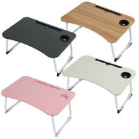 Folding Lap Desk Tray Table Drawer Bed Food Laptop TV Lazy Notebook Stand Pink