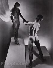 1936/81 GEORGE PLATT LYNES Surreal MALE NUDE Butt Greek Mythology Orpheus 16x20