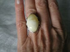 Baltic Butterscotch Amber ring, size N/O, 24.5 x 15.5mm, 4.86 grams 925 Sterling