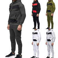 Men Tracksuit Set Hoody Sweatshirt Jogger Pants Gym Trackies Sport Suit Athletic