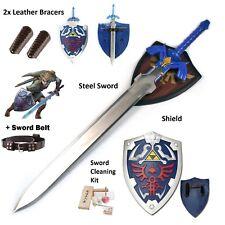 Legned of Zelda Link Cosplay Real Steel Gift Set LARP master sword shield combo