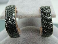 Turkish Handmade Jewelry 925 Sterling Silver Onyx Stone Ladies' Earrings
