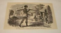 1880 magazine engraving ~ NATIVES OF UNIAMESI, East Africa
