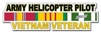 """Army Helicopter Pilot Vietnam Veteran 5.5"""" Window Sticker 'Officially Licensed'"""